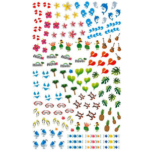 Summer Hawaii Nail Stickers