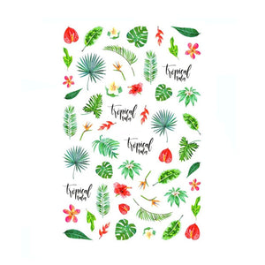 Plants Tropical Hawaii Mix Nail Stickers