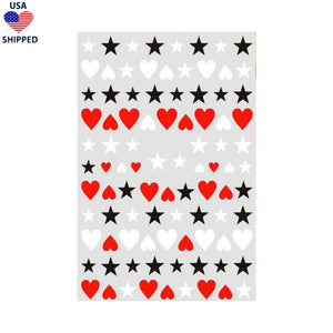 (USA) Shapes Stars & Hearts Nail Stickers
