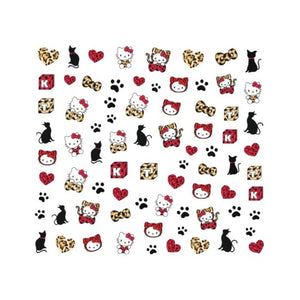 Kawaii Hello Kitty Leopard Nail Stickers