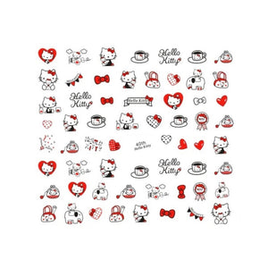 Kawaii Hello Kitty Tea Party Nail Stickers