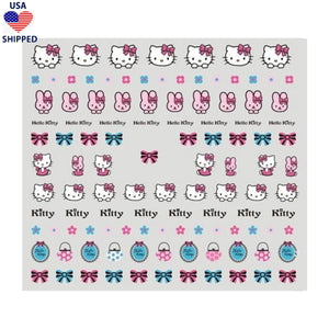 (USA) Kawaii Kitty Bunnies Nail Stickers