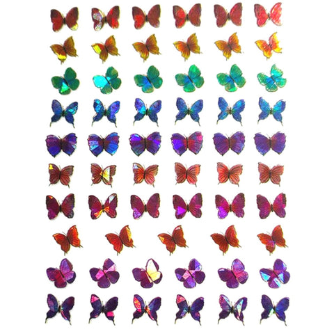 Butterflies Holo Mix #2 Nail Stickers