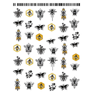 Butterflies Geometric Insects Nail Stickers