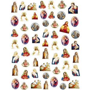 Christian Mary & Jesus Nail Stickers