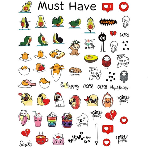 Animals & Food Nail Stickers