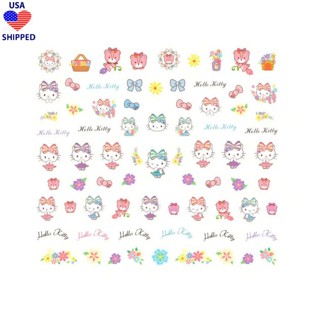 (USA) Kawaii Kitty Cutie Nail Stickers