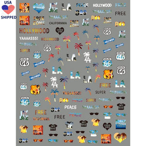 (USA) Travels LA Nail Stickers