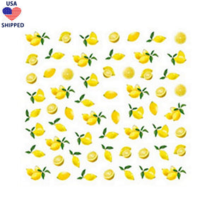(USA) Food/Drinks Lemons Nail Stickers