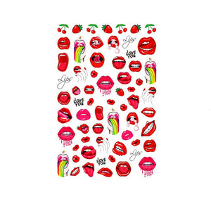 Explicit Lips #1 Nail Stickers