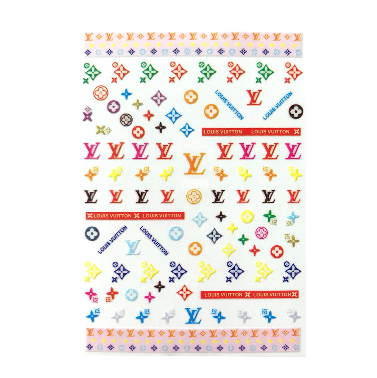 L Cheerful Small Nail Stickers