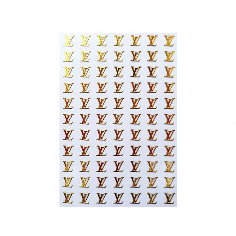 L Gold Dainty Nail Stickers