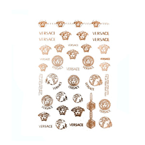 V Rose Gold Nail Stickers