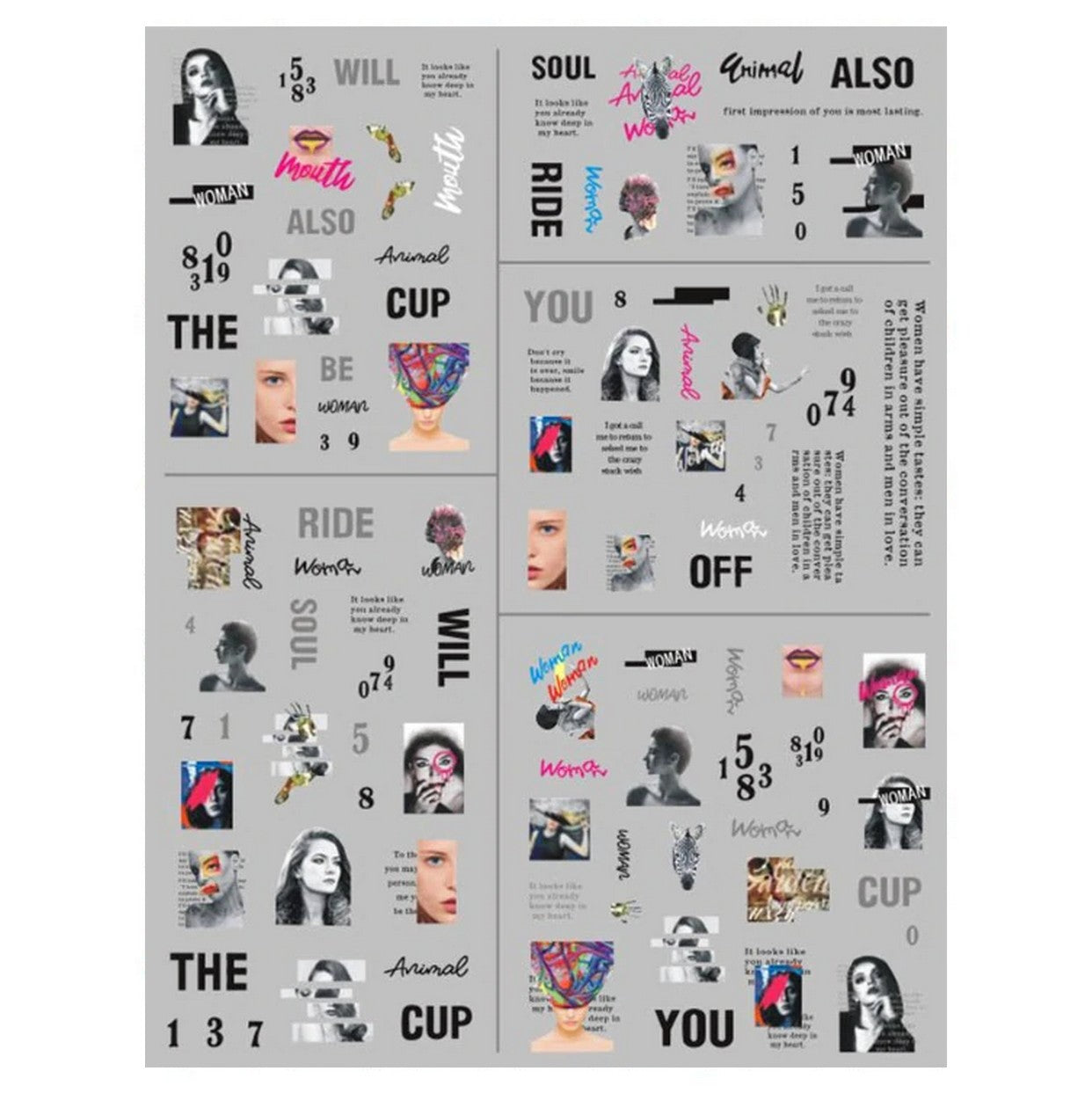 Beauty Magazine Clippings Nail Stickers