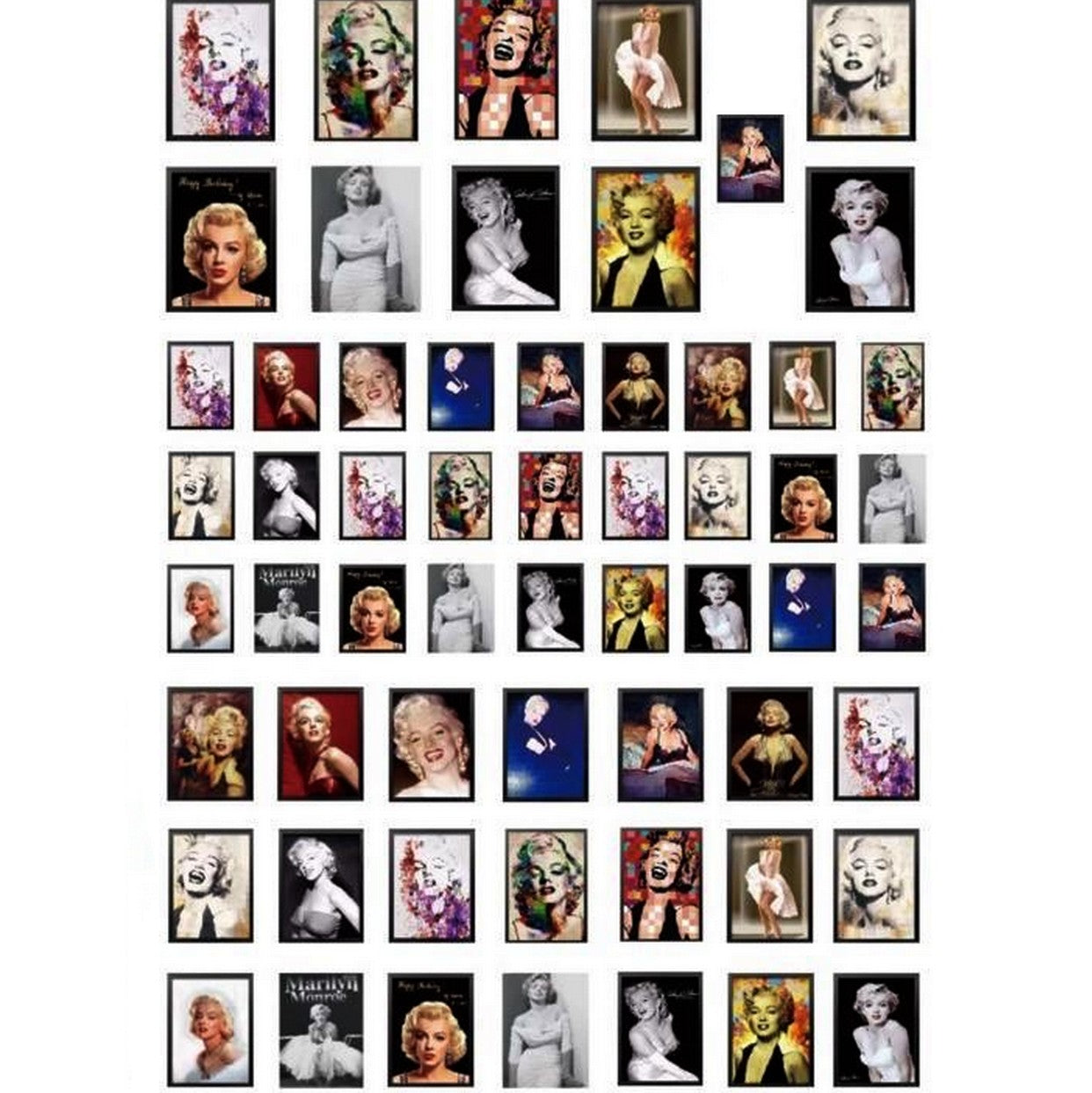 Vintage Marilyn Monroe Photos Nail Stickers