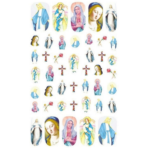 Christian Virgin Mary Nail Stickers