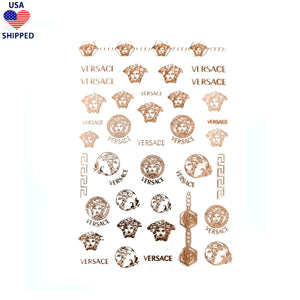(USA) Medusa / Rose Gold Nail Stickers