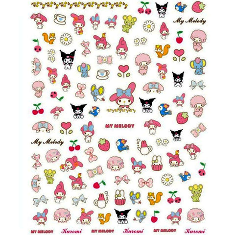 Kawaii Melody Nail Stickers