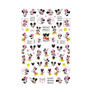 Cartoons MM Pink Nail Stickers