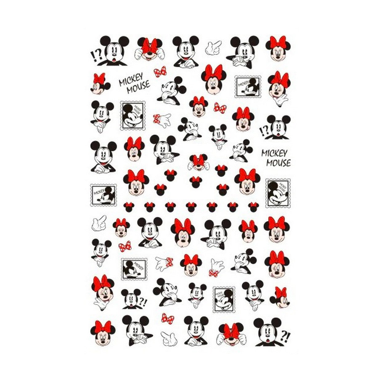 Cartoons Min Mick Red Nail Stickers