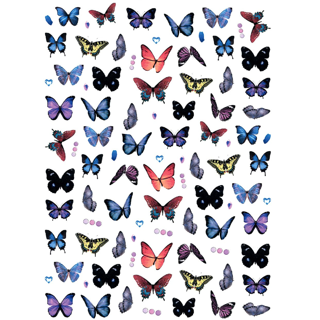 Butterflies Midnight Variety Nail Stickers