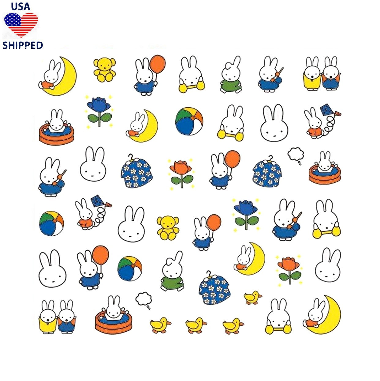 (USA) Cartoons Mif Nail Stickers