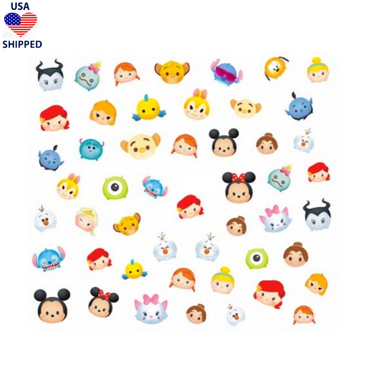 (USA) Cartoons Characters Mix Nail Stickers