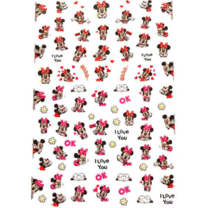 Cartoons MM Red & Pink #1 Nail Stickers