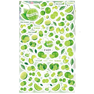 Drinks/Food Mojito Nail Stickers