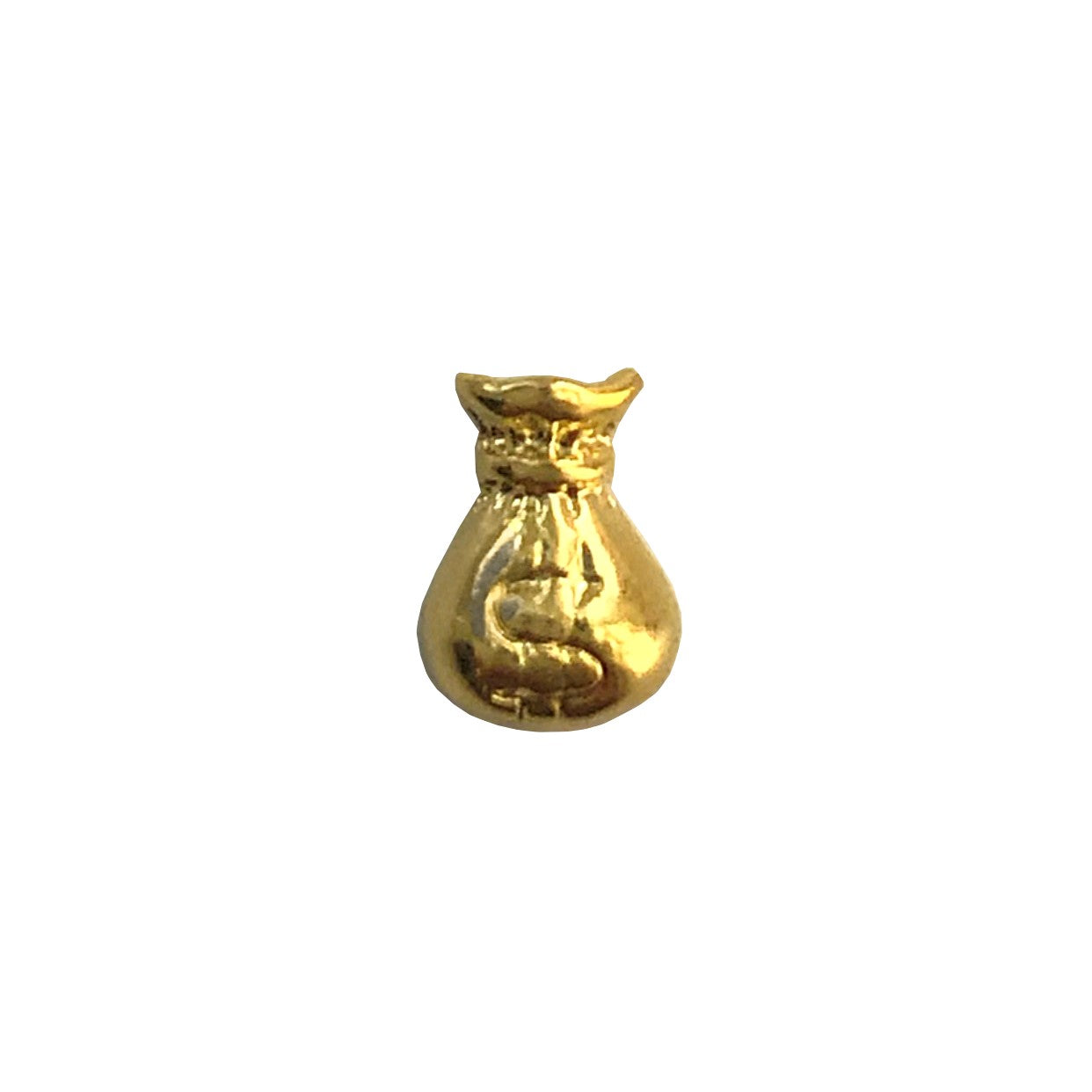 Gold Moneybag Nail Charms x4