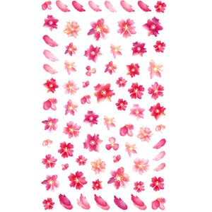 Floral Oil Painted Effect Nail Stickers