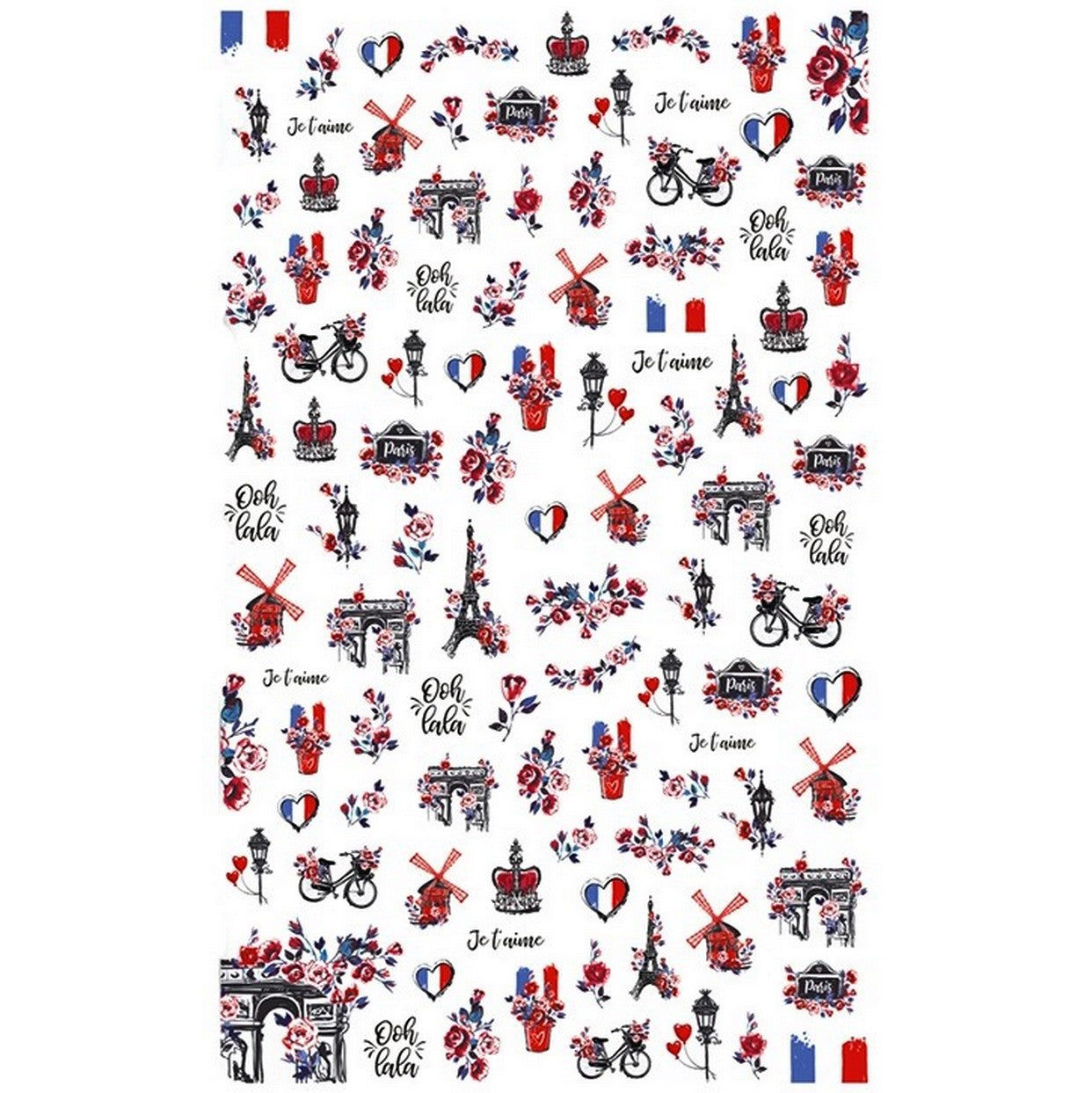 Travels Paris Ooh Lala Nail Stickers