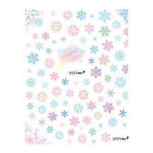 Christmas Snowflakes Watercolour Nail Stickers