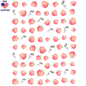 (USA) Food/Drinks Peaches Nail Stickers