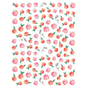 Drinks/Food Peaches Nail Stickers