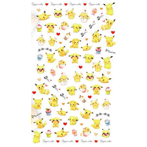 Anime Pika Kawaii Nail Stickers