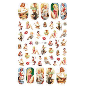 Vintage Pin Up Girls #2 Nail Stickers