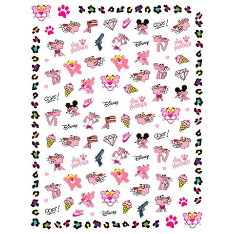 90's Pink Panther Nail Stickers