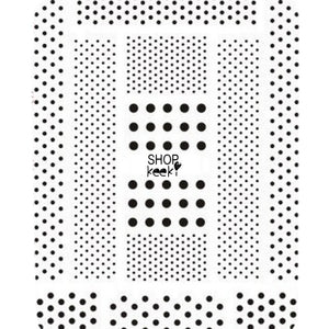 Pattern Polka Dots Black Stickers