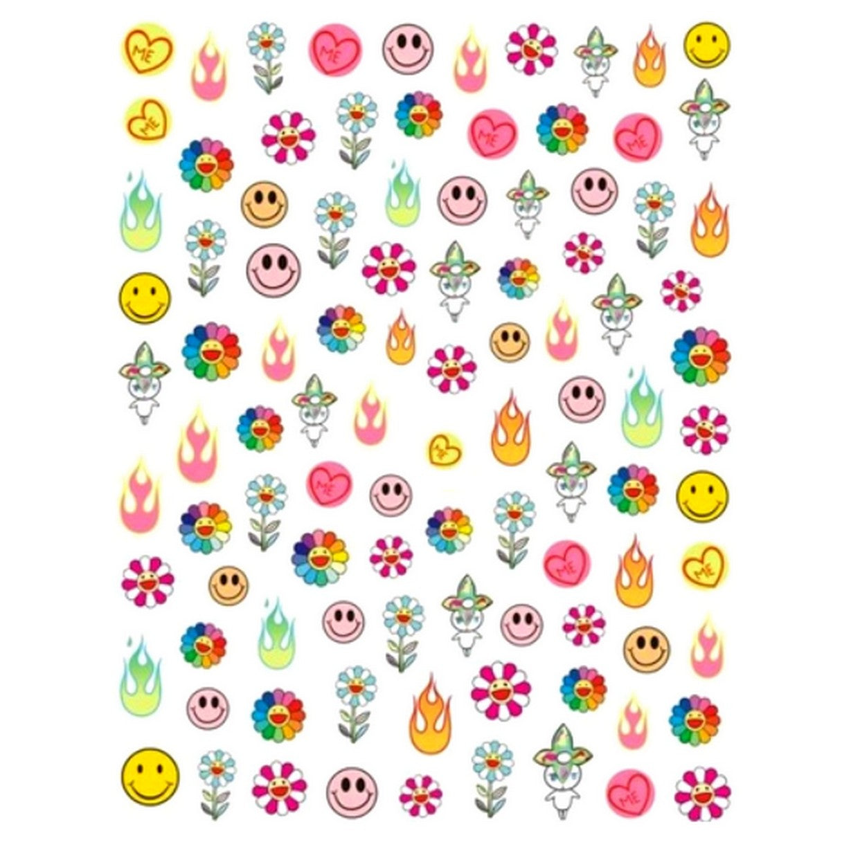 T Small Mix Nail Stickers