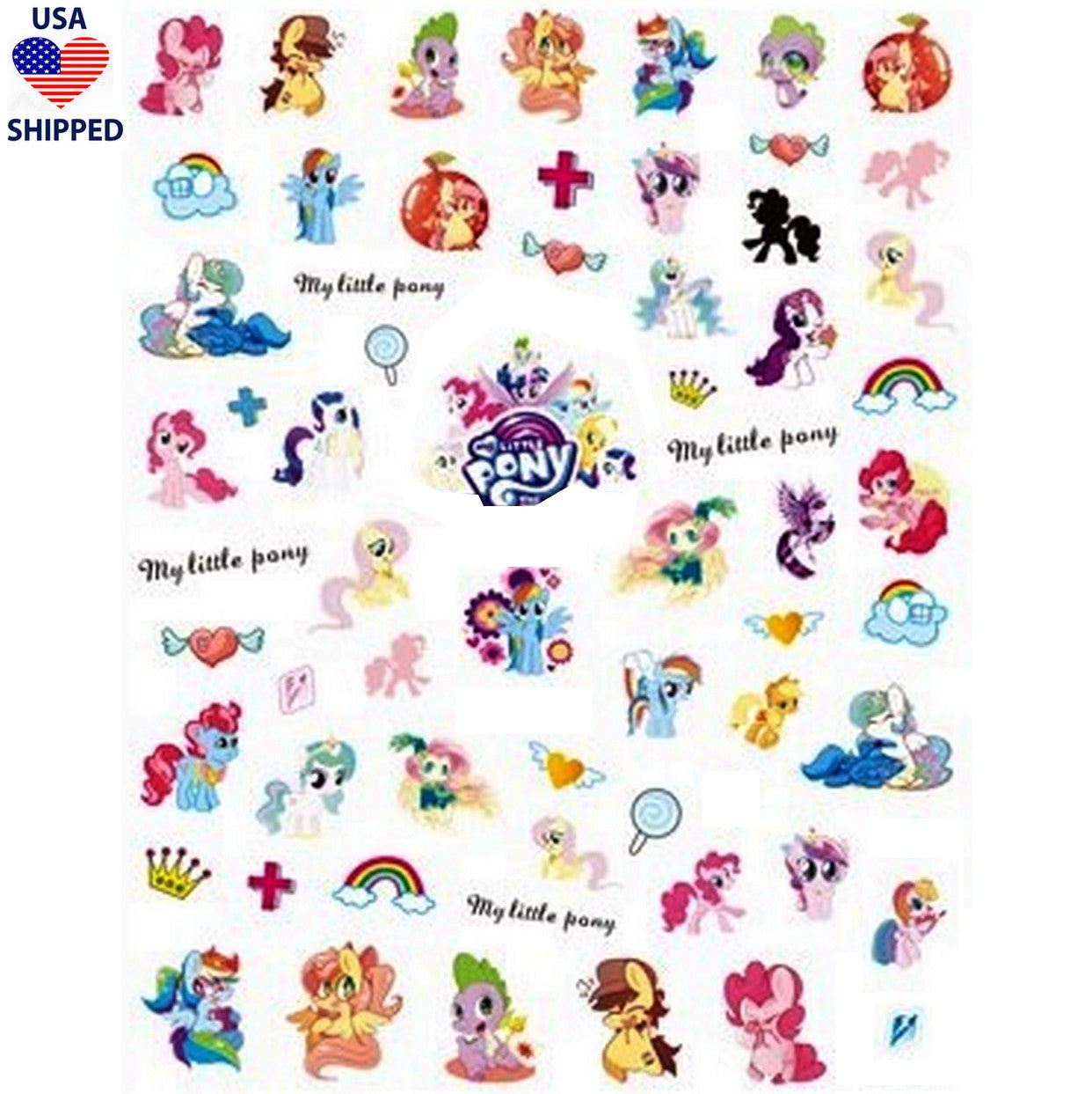 Nostalgic Pony Nail Stickers