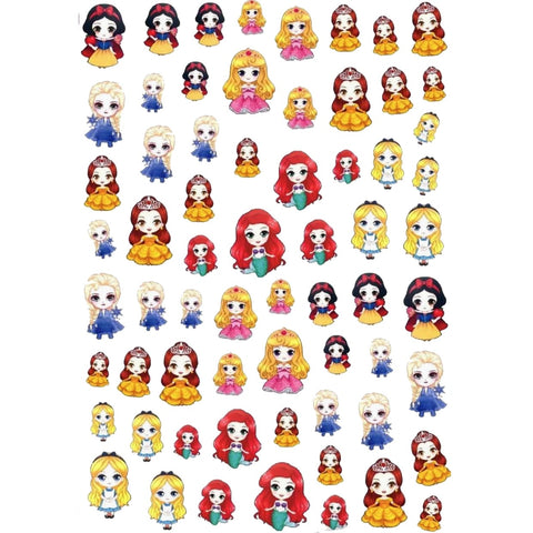 Cartoons Prin Kawaii Style Nail Stickers