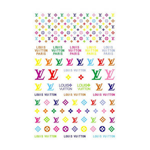 L Gold Rainbow Dainty Nail Stickers