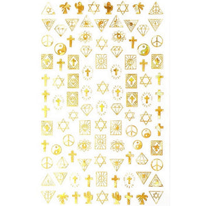 Religion Unity Gold Holographic Nail Sticker