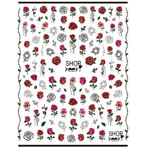 Flower Thorns & Roses Nail Stickers