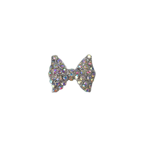 Silver Large AB Crystals Bow x1