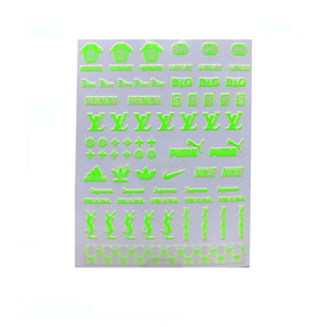Dainty Mix / Neon Green Nail Stickers