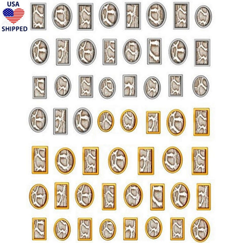 (USA) Animals Snake Print Frames Nail Stickers