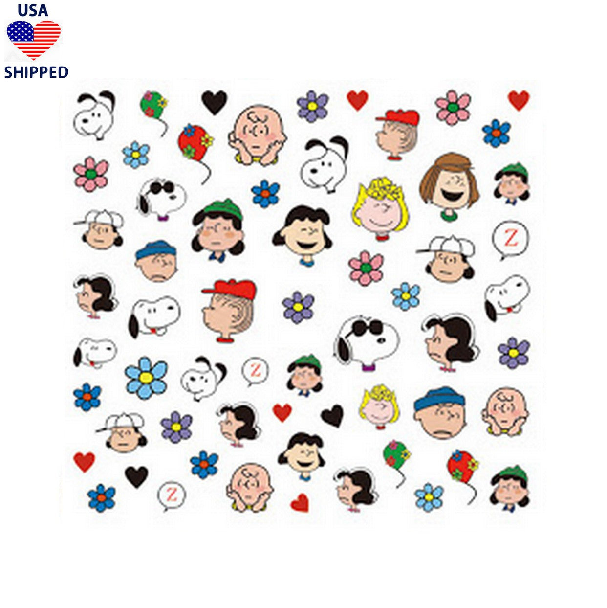 (USA) Cartoons CB Flowers Nail Stickers