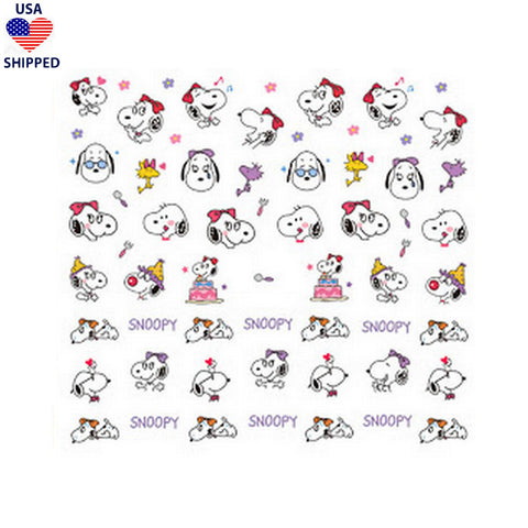 (USA) Cartoons CB Birthday Nail Stickers